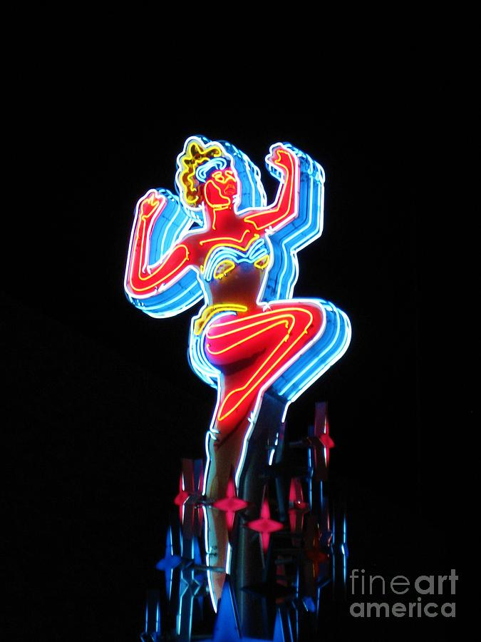 Vegas Show Girl Sign Photograph