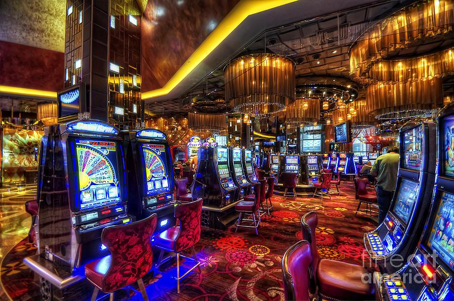 Art Photograph - Vegas Slot Machines by Yhun Suarez