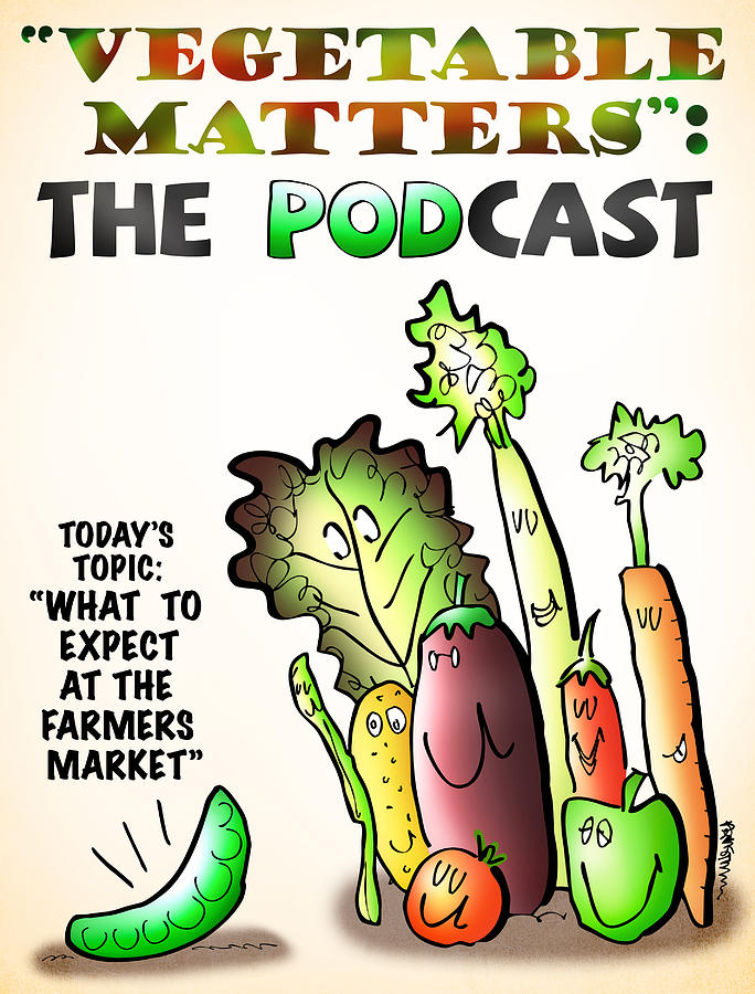Vegetable Digital Art - Vegetable Matters The Podcast by Mark Armstrong
