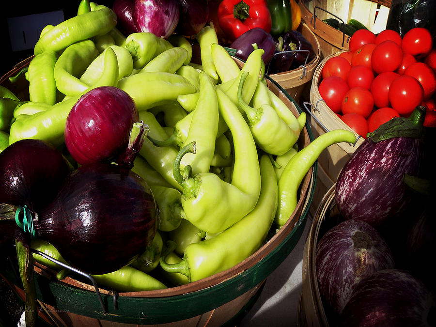 Vegetables Organic Market Photograph  - Vegetables Organic Market Fine Art Print