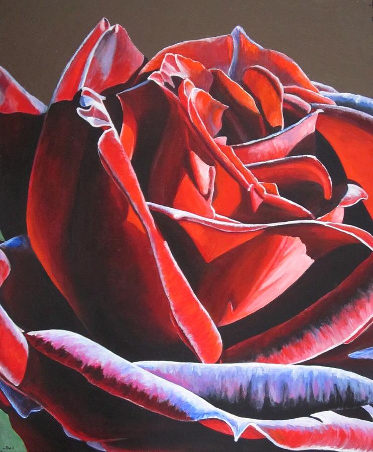 velvet rose painting by lillian bell. Black Bedroom Furniture Sets. Home Design Ideas