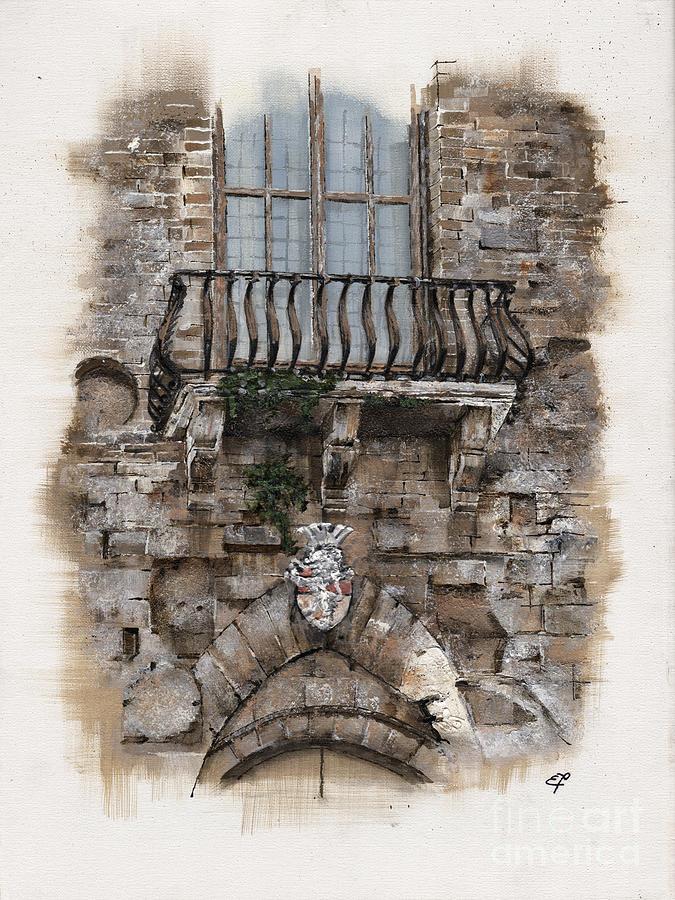 Venice Painting - Venetian Balcony 02 Elena Yakubovich by Elena Yakubovich