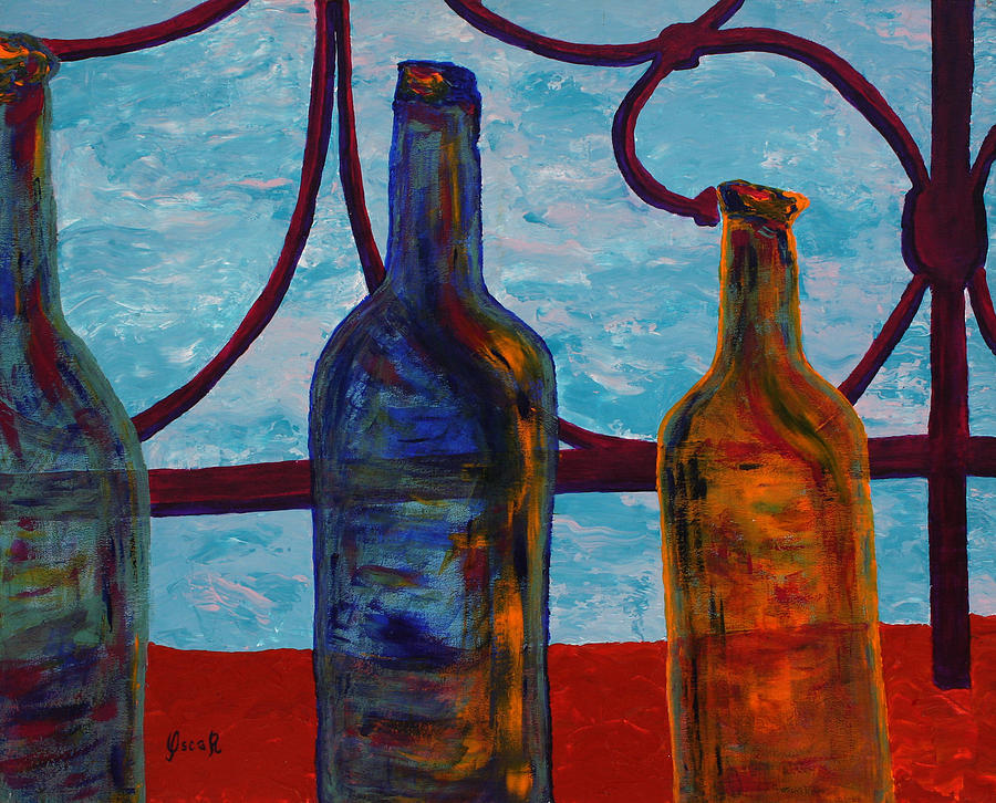 Art Painting - Venetian Bottles  by Oscar Penalber
