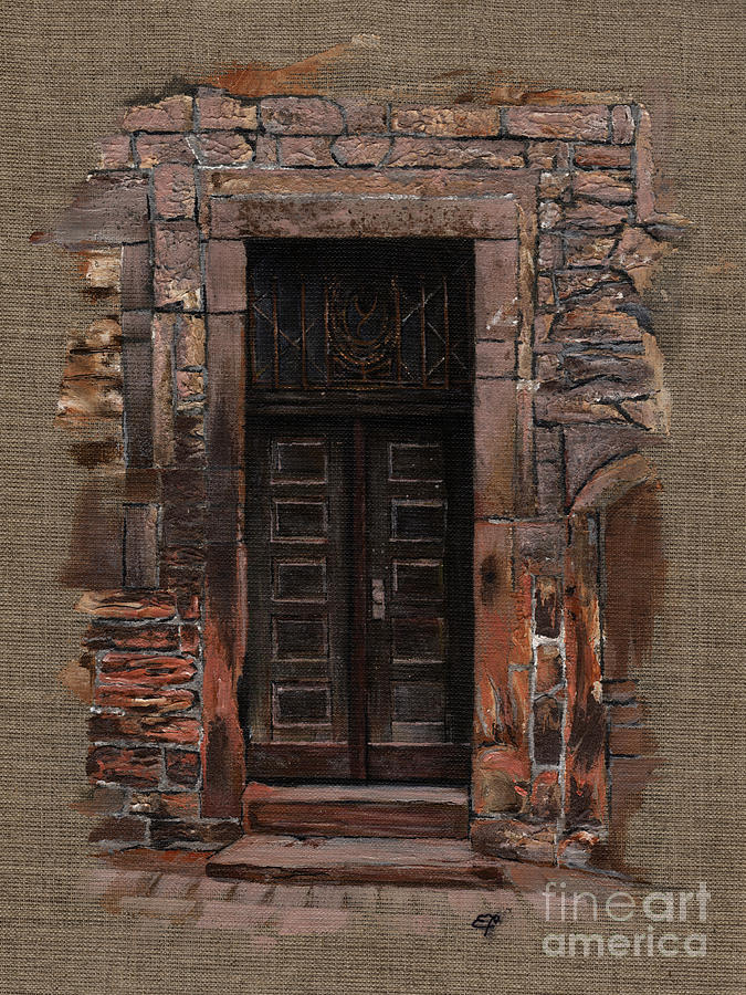 Venetian Door 02 Elena Yakubovich Painting