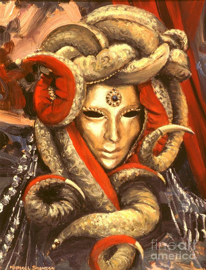 Venetian Mystery Mask Painting