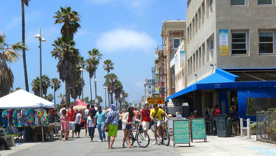 Boardwalk photograph venice beach boardwalk by nancy merkle