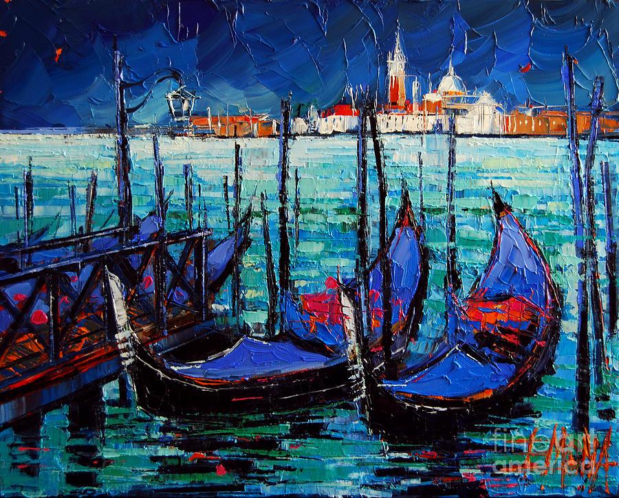 Venice Gondolas And San Giorgio Maggiore Painting