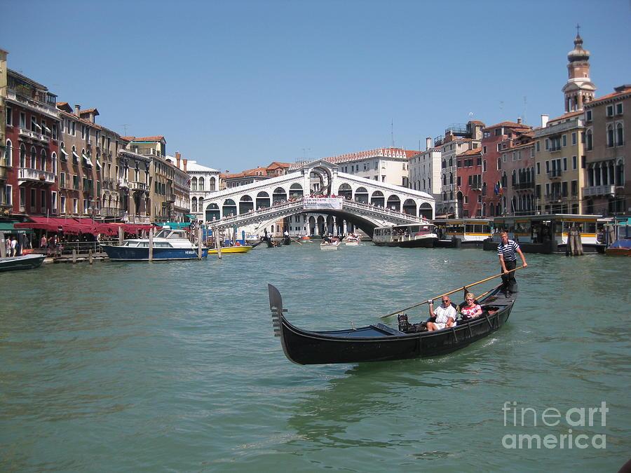 Venice Gondolier Photograph - Venice Gondolier by John Malone