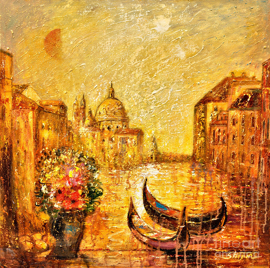Landscape Paintings Painting - Venice II by Shijun Munns