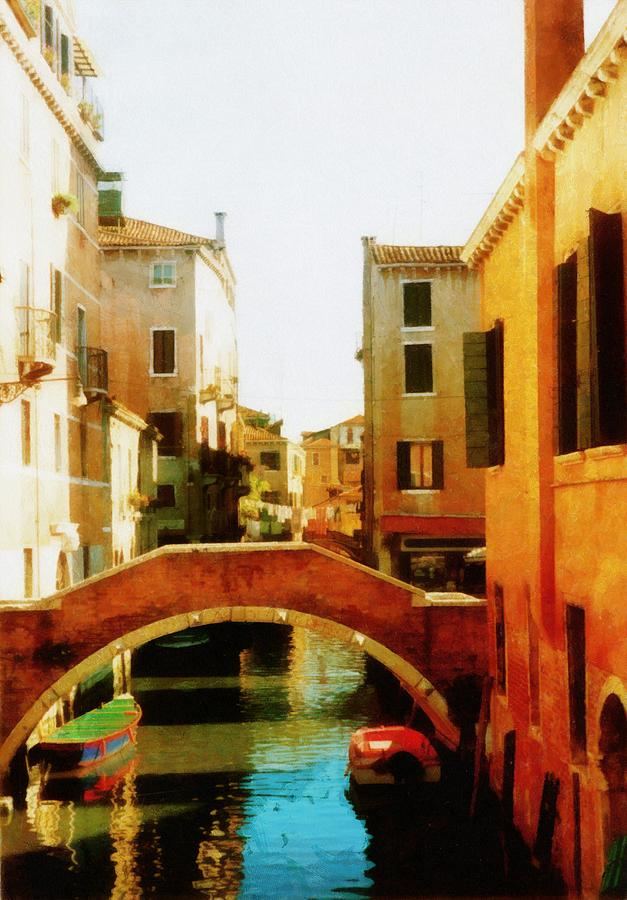 Venice Italy Canal With Boats And Laundry Photograph