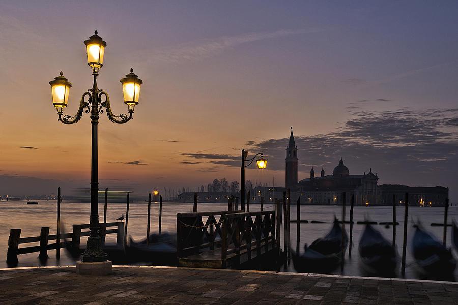 Venice Night Lights Photograph