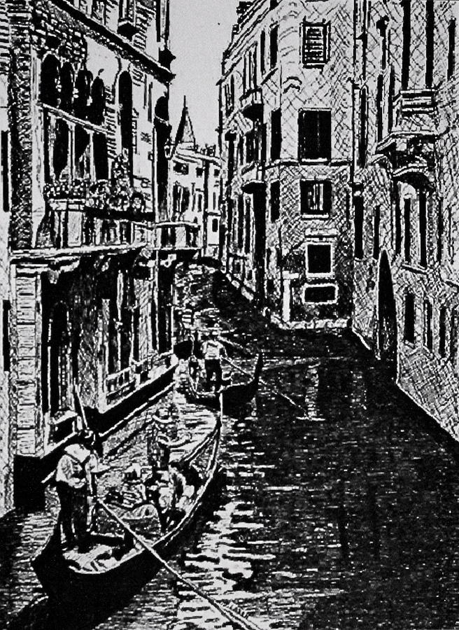 Venice Drawing  - Venice Fine Art Print