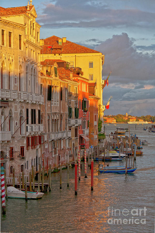 Venice Photograph - Venice Romantic Evening by Heiko Koehrer-Wagner