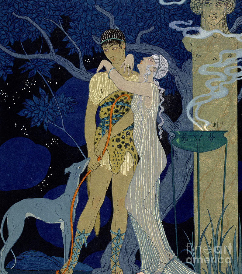Venus And Adonis  Painting  - Venus And Adonis  Fine Art Print