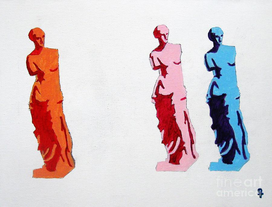 Venus De Milo Statue Painting