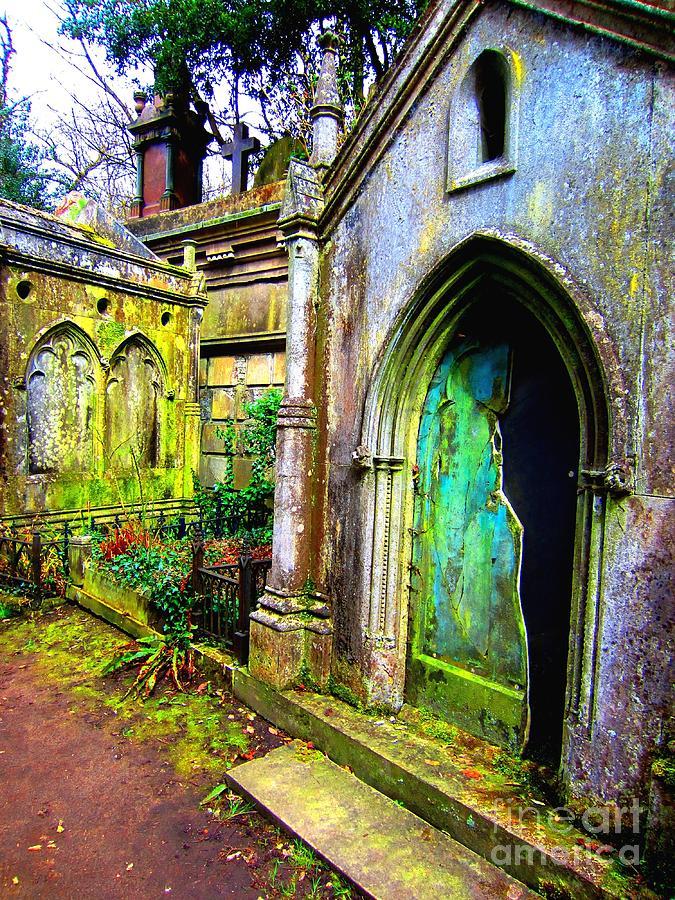 London Photograph - Verdigris Crypt by C Lythgo