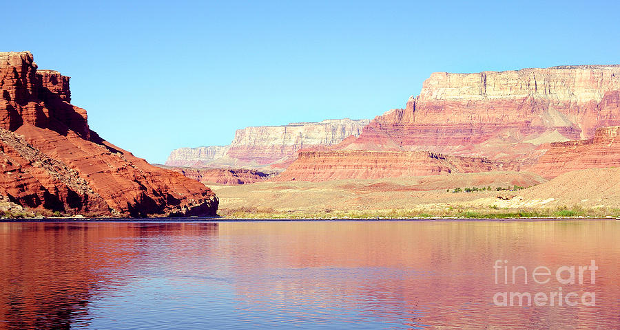 Vermillion Cliffs And Colorado River In Morning Light Photograph