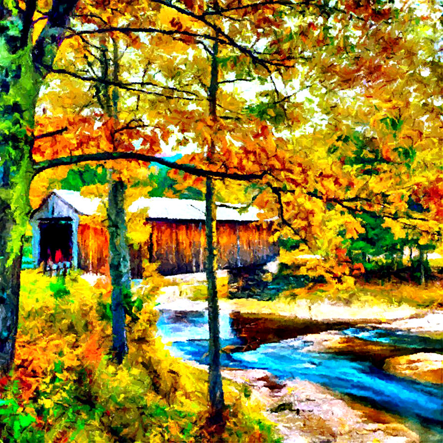 Vermont Covered Bridge Photograph - Vermont Covered Bridge by Bob and Nadine Johnston