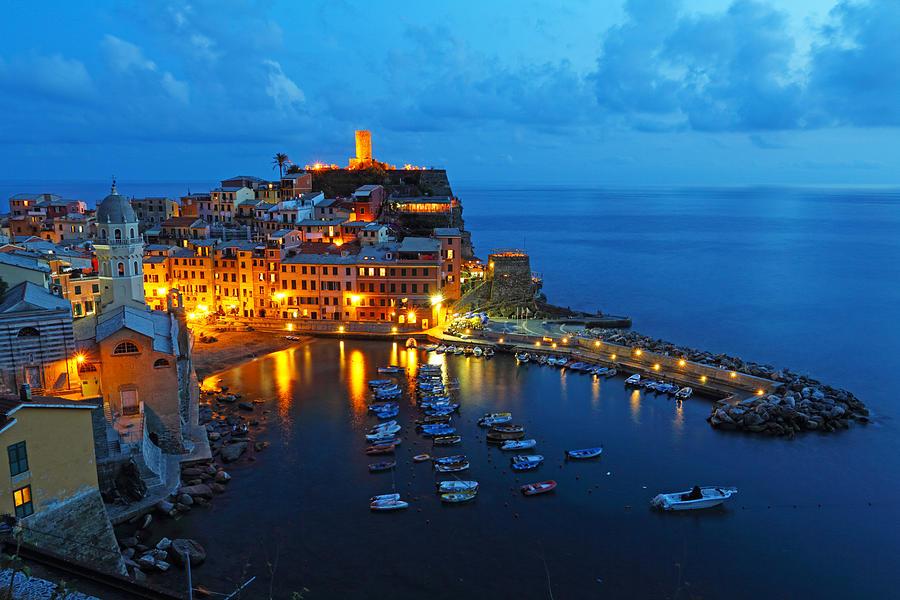 Cinque Terre Photograph - Vernazza Evening by Alex Sukonkin