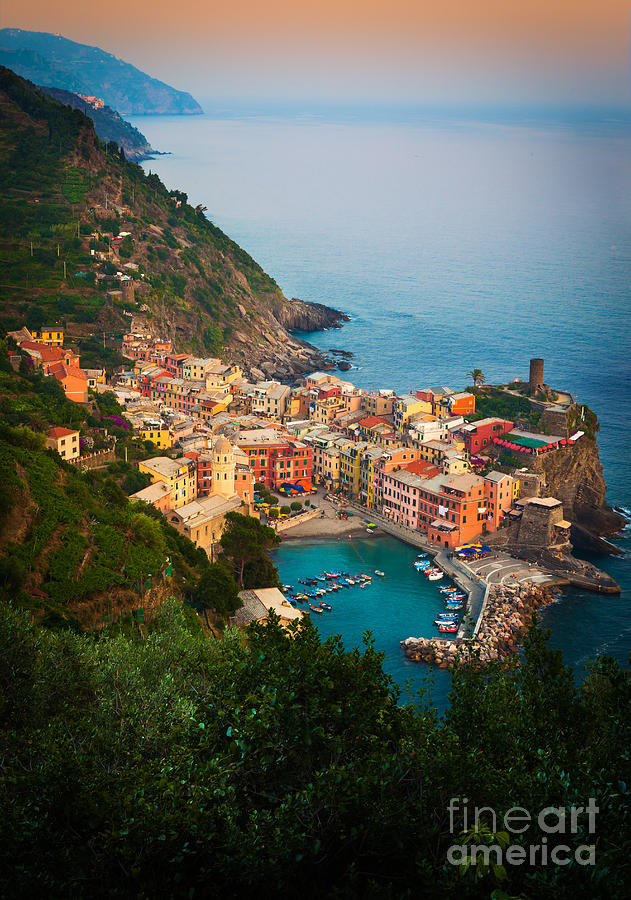 Vernazza From Above Photograph  - Vernazza From Above Fine Art Print
