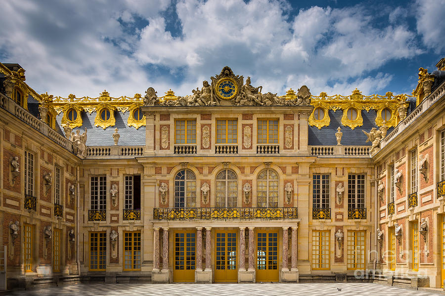 Europa Photograph - Versailles Courtyard by Inge Johnsson