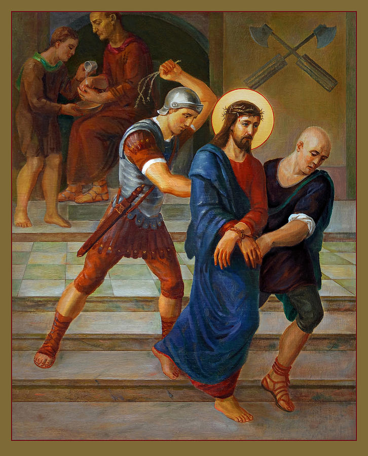 Via Dolorosa 1. Stations Of The Cross Painting  - Via Dolorosa 1. Stations Of The Cross Fine Art Print