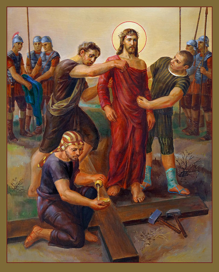 Via Dolorosa 10. Way Of The Cross. Katholische Kunst. Painting