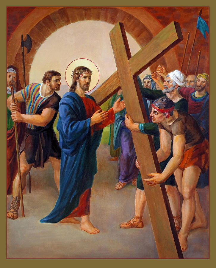 Via Dolorosa 2. Stations Of The Cross Painting  - Via Dolorosa 2. Stations Of The Cross Fine Art Print