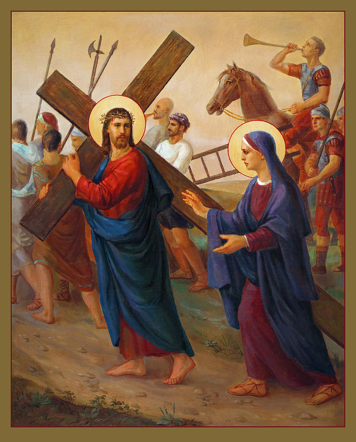 Via Dolorosa 4. Stations Of The Cross. Droga Krzyzowa Painting