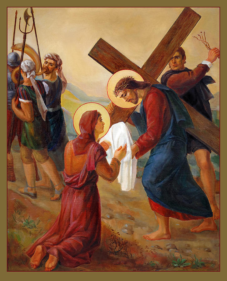 Via Dolorosa 6. Saint Veronica. Stations Of The Cross Painting