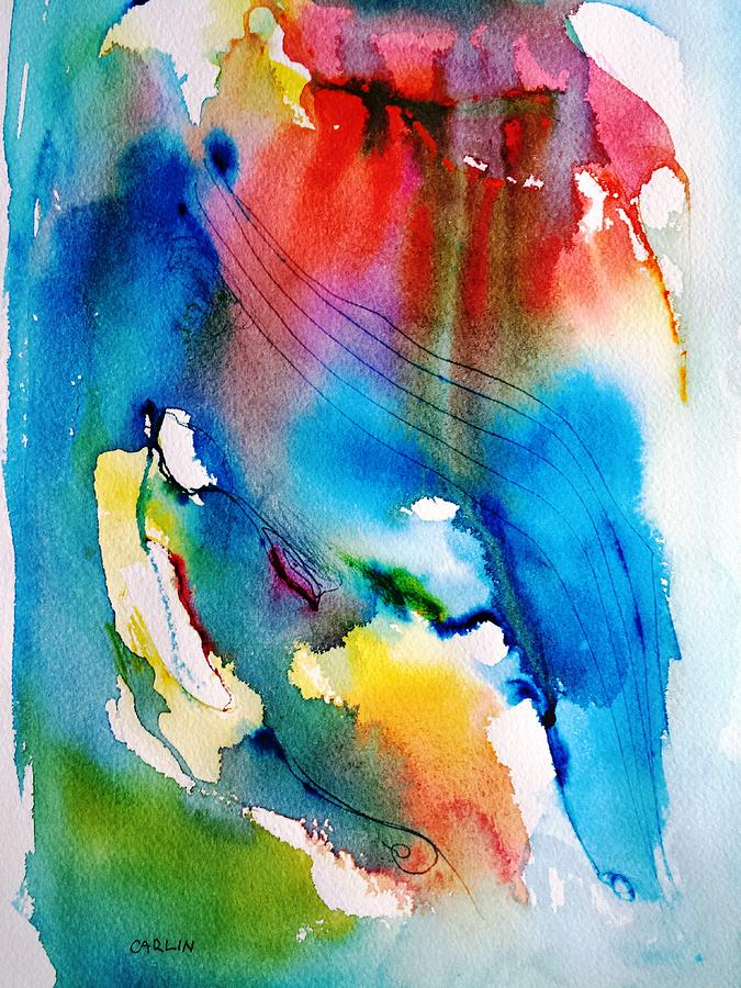 Vibrant Colorful Abstract Watercolor Painting Painting