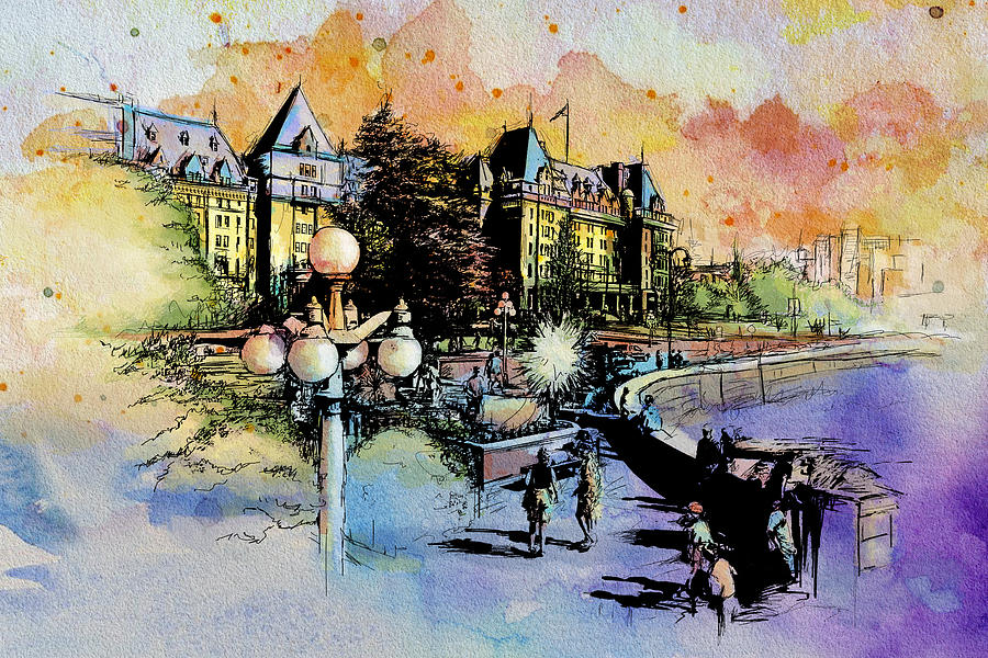 Vancouver Painting - Victoria Art by Catf