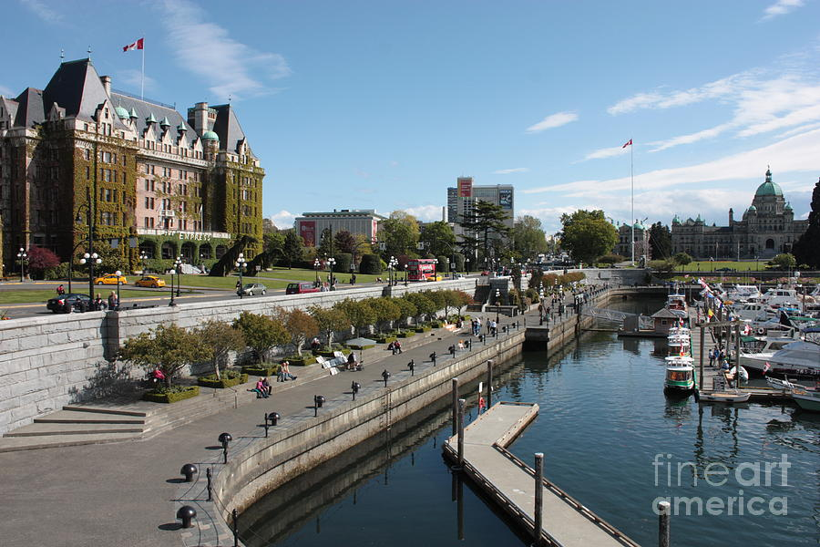 Victoria Harbour With Empress Hotel Photograph  - Victoria Harbour With Empress Hotel Fine Art Print