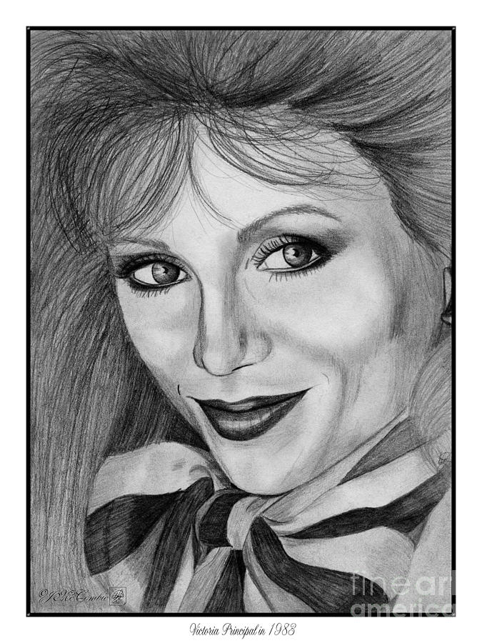 Victoria Principal In 1983 Drawing