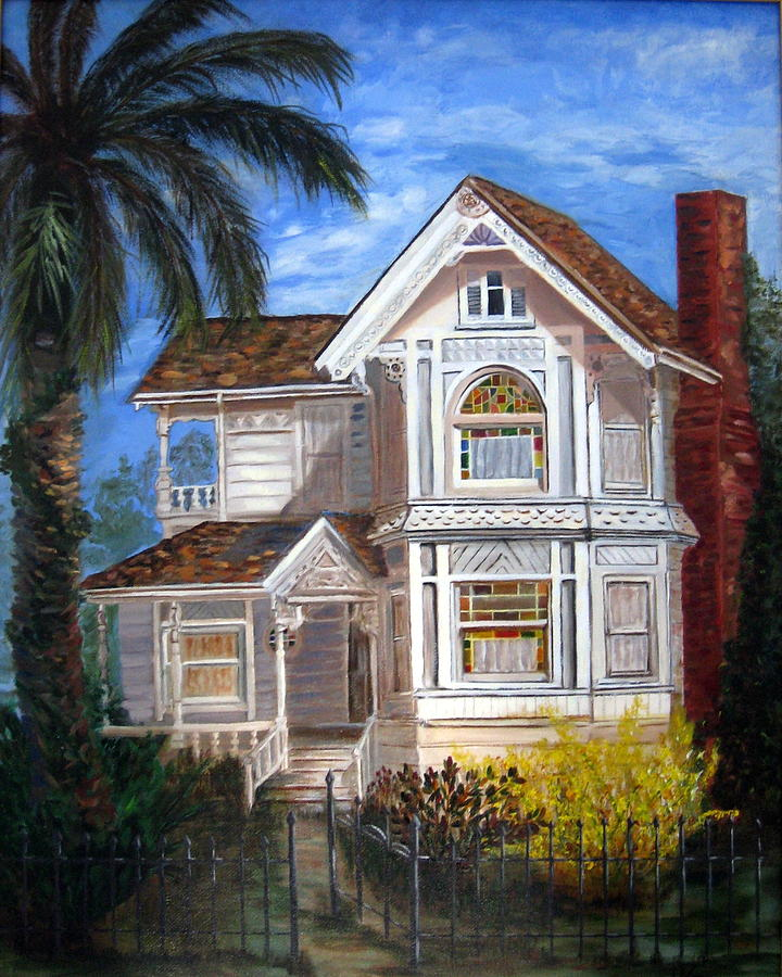 House Painting - Victorian House by LaVonne Hand