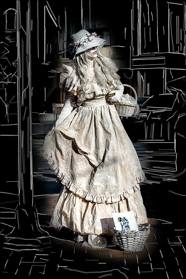Asheville Digital Art - Victorian Lady by John Haldane