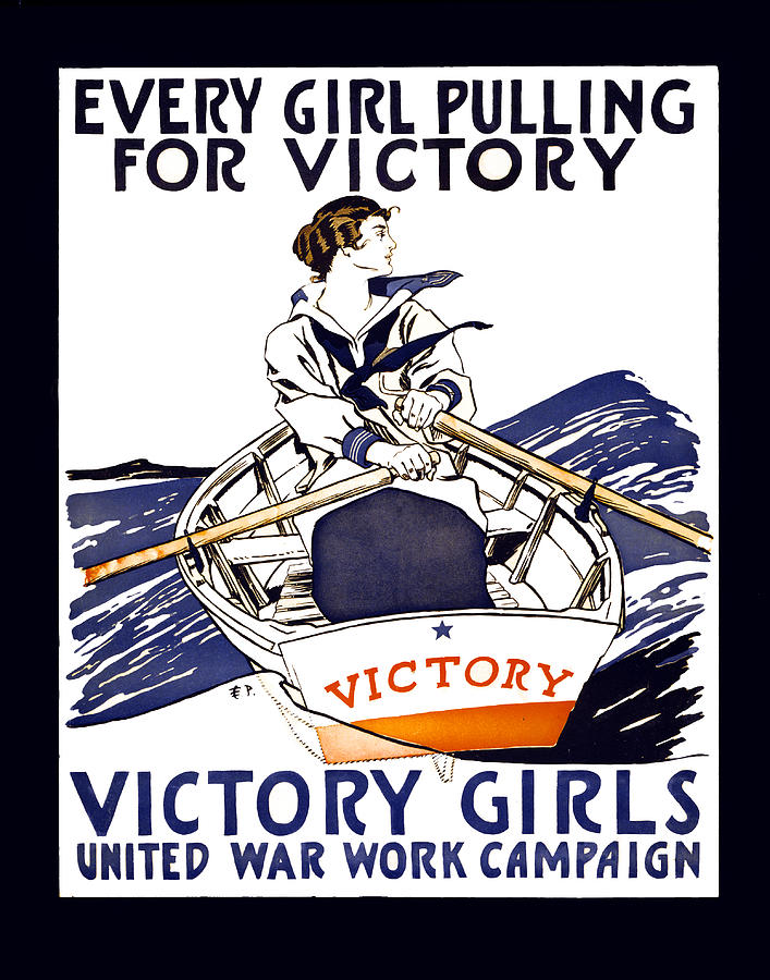 Victory Girls Of W W 1     1918 Photograph