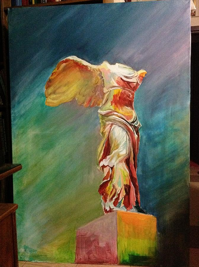 Victory Samothraki Painting