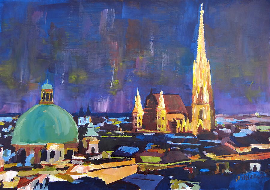 Vienna At Night Painting