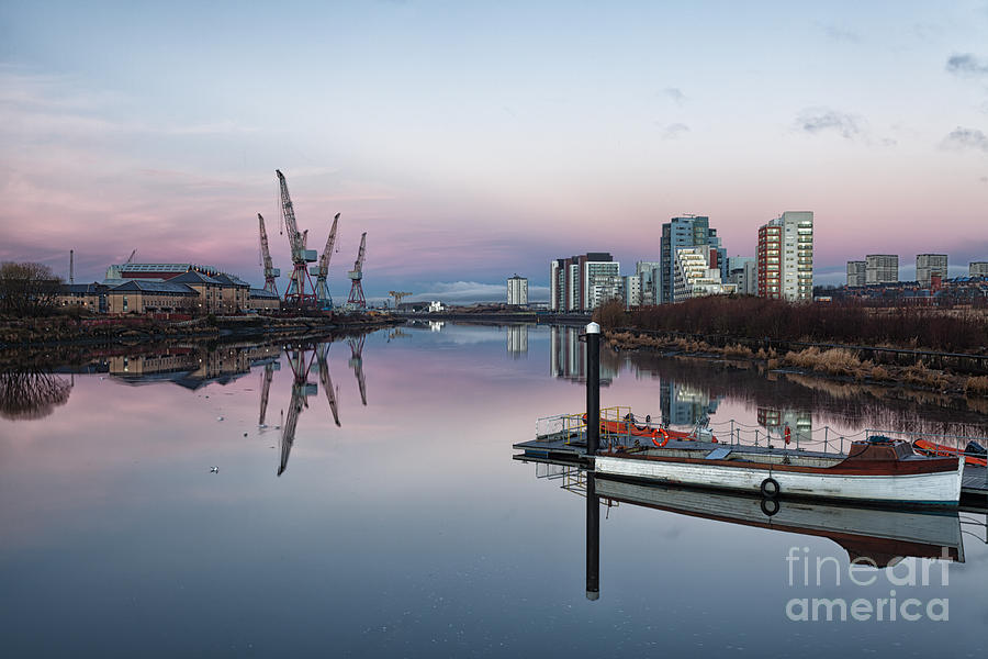 Glasgow Regenerated Photograph - View Down The Clyde. by John Farnan