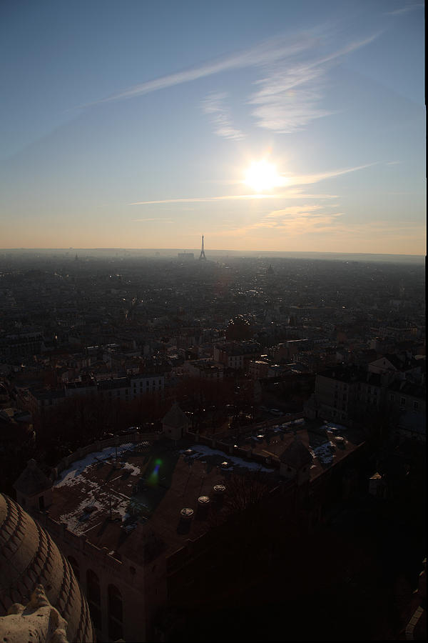 View From Basilica Of The Sacred Heart Of Paris - Sacre Coeur - Paris France - 011311 Photograph