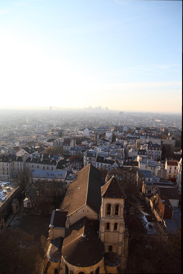 And Photograph - View From Basilica Of The Sacred Heart Of Paris - Sacre Coeur - Paris France - 011318 by DC Photographer