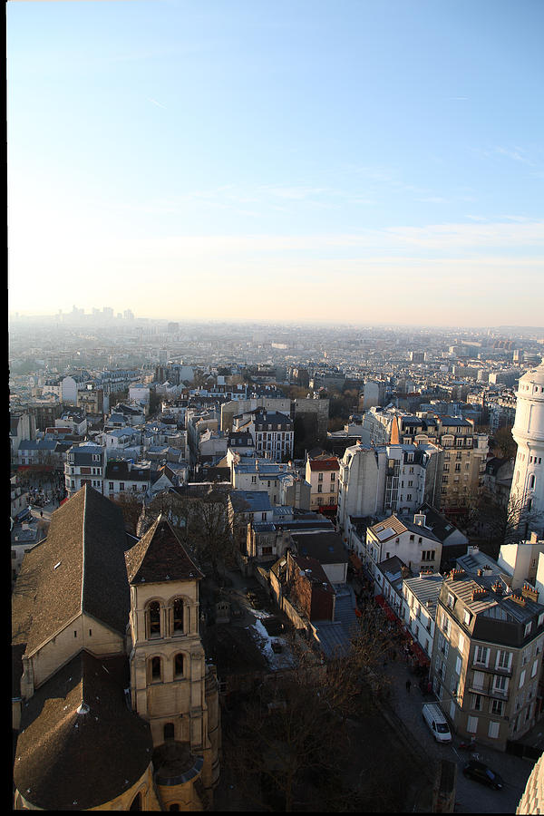 View From Basilica Of The Sacred Heart Of Paris - Sacre Coeur - Paris France - 011320 Photograph  - View From Basilica Of The Sacred Heart Of Paris - Sacre Coeur - Paris France - 011320 Fine Art Print