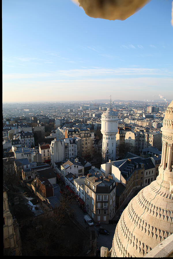 View From Basilica Of The Sacred Heart Of Paris - Sacre Coeur - Paris France - 011322 Photograph  - View From Basilica Of The Sacred Heart Of Paris - Sacre Coeur - Paris France - 011322 Fine Art Print