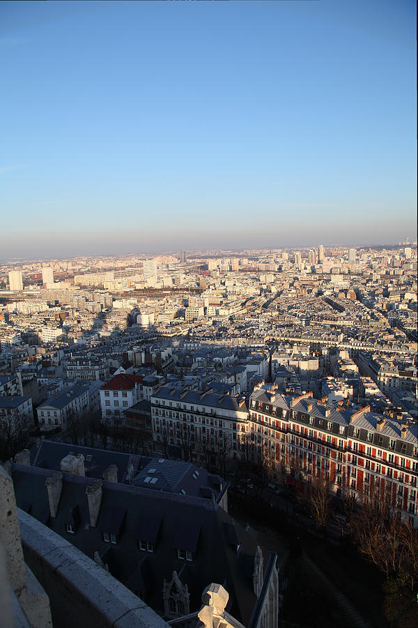 View From Basilica Of The Sacred Heart Of Paris - Sacre Coeur - Paris France - 011326 Photograph