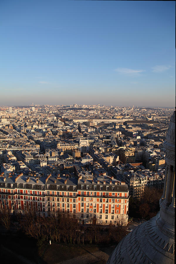 View From Basilica Of The Sacred Heart Of Paris - Sacre Coeur - Paris France - 011330 Photograph
