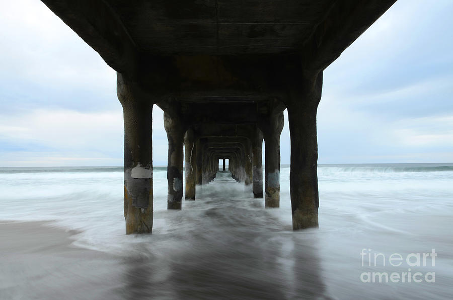 View From Below Manhattan Beach Pier Photograph