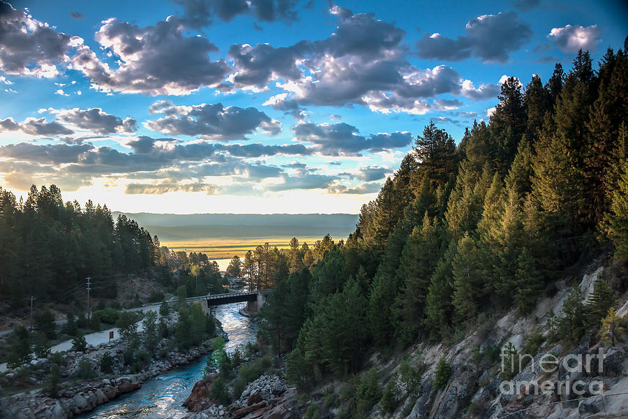 View From Cascade Dam Of The North Fork Of The Payette River Photograph  - View From Cascade Dam Of The North Fork Of The Payette River Fine Art Print