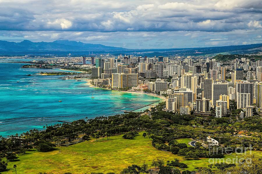 View From Diamond Head Photograph  - View From Diamond Head Fine Art Print