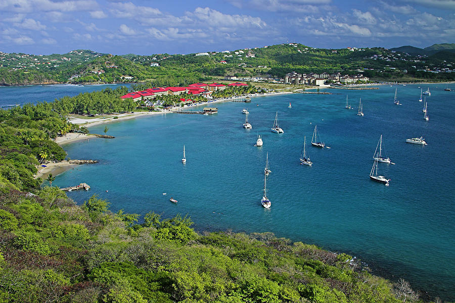 Tropical Photograph - View From Fort Rodney-st Lucia by Chester Williams